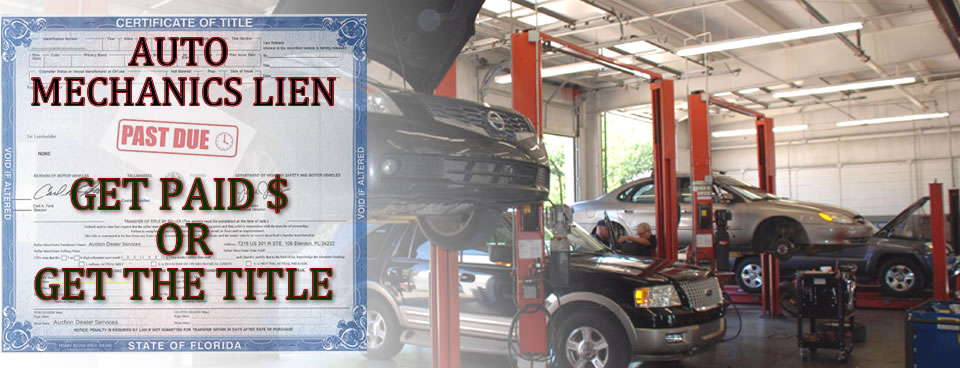 Mechanic lien filing services southern title liens for Motor vehicle lien search